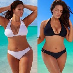 Bikini plus size de ceinture baisse
