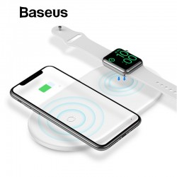 2 in 1 - Baseus 10 W Snel draadloos oplaadstation voor iPhone X - XS Max - XR Apple Watch 4/3/2 - Samsung S8 / S9
