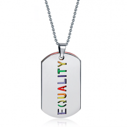 EQUALITY double layer pendant necklace unisex