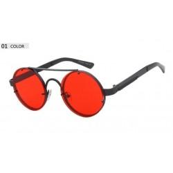 Runde Vintage Steampunk-Sonnenbrille, unisex