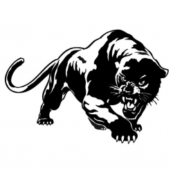 3D wild panther vinyl car sticker decal 19.5 * 13.6 cm