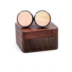 Runde runde Manschettenknöpfe aus Holz