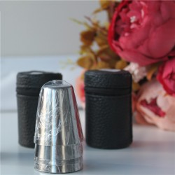 30ml mini stainless steel drinking cups 4 pcs