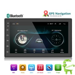 Android 9 - Autoradio DIN-2 - Écran tactile 7'' - GPS - Bluetooth - FM - WIFI -MP3 - Mirrorlink