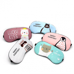 Cotton sleeping mask - eye mask with cartoon print