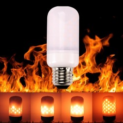 E27 E26 E14 LED lamp flame effect bulb flickering flame light 5W SMD2835