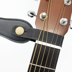 Leather guitar strap holder