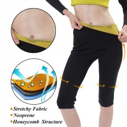 Sauna effect fitness thermo slimming pants leggings