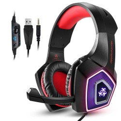 PS4 - Xbox One - PC - Hunterspider V1 stereo gaming headset surround koptelefoon met microfoon en LED-licht