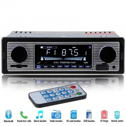 Bluetooth Autoradio DIN 1 - 12 V FM MP3 USB SD AUX Stereo Audio