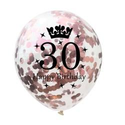 Verjaardag en jubileum latex ballonnen 12 Inch 5 stuks