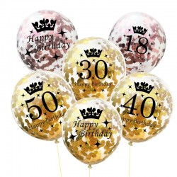 Birthday & anniversary latex balloons 12 Inch 5pcs