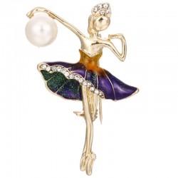 Ballerina Kristallbrosche