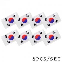 Autocollant de voiture emblème drapeau national 3D 8 pcs