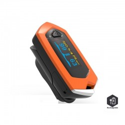 Rechargeable finger pulse oximeter blood heart rate monitor