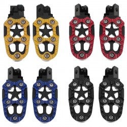 Universal motorcycle metal footrests with spring 8mm 2 pcs