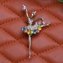 Crystal ballerina brooch