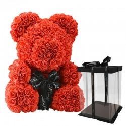 Rose bear - bear made from infinity roses - 40 cm