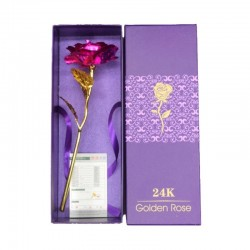 Infinity gold plated rose with Love holder & box