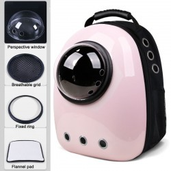 Travel capsule breathable carrying backpack for dog & cat - pets
