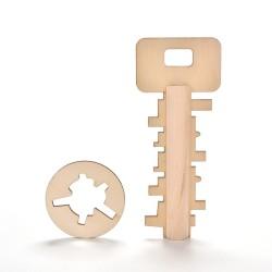 Houten puzzel sleutel speelgoed