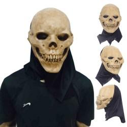 Schedel - volgelaats latex masker voor halloween