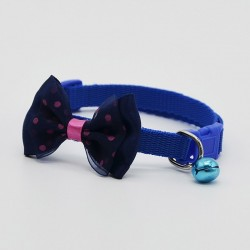 Adjustable pet collar with bowknot and bell