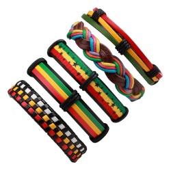 Multilayer leather punk bracelet - unisex