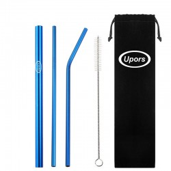 304 stainless steel - reusable drinking straws - set with brush & bag