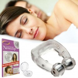 Silicone magnetic - anti snore - nose clip with case