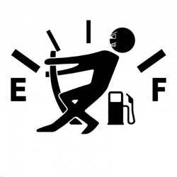 Gas - Kraftstoff - Vinyl Cartoon Autoaufkleber
