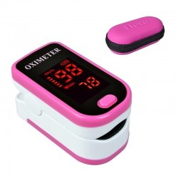 LED display - finger pulse oximeter with case