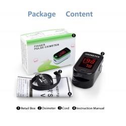 LED-display - vingerpulsmeter oximeter met beschermhoes