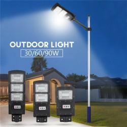 30W - 60W - 90W LED street light lamp - PIR motion sensor - remote control - waterproof
