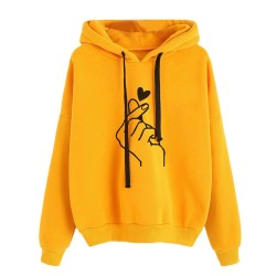Women's hooded sweatshirt - cotton