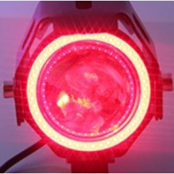 U7 Angel Eye motorcycle LED headlight with switch - fog lamp - CREE chip 3000LM - 2 pcs set