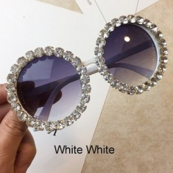Runde Kristallsonnenbrille - UV400