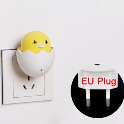LED Wandlampe - Steckerlampe - Nachtlampe - mit Sensor - gelbes Huhn