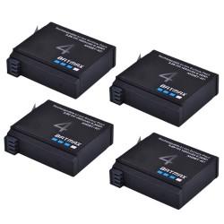 Batterie 1680mAh AHDBT- 401 pour GoPro Hero 4 Action-Camera - 4 pièces