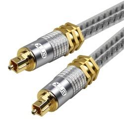 Toslink EMK - premium - câble audio optique numérique - Connecteur or Spdif OD8.0mm - 1m - 2m - 3m - 5m
