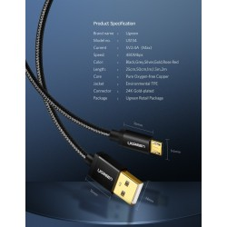 Ugreen - fast charge - micro USB data cable