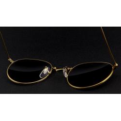 Retro - foldable - oval sunglasses - unisex