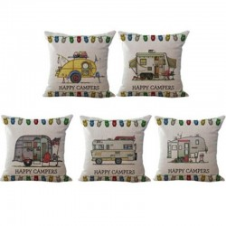 Happy Campers - linen cushion cover 45 * 45cm