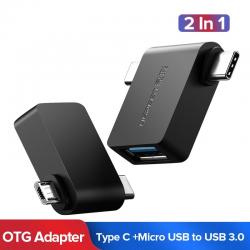 Ugreen OTG Kabel Adapter 2 in 1 Micro USB Type C naar USB 30 Adapter OTG Converter Voor Samsung Gal