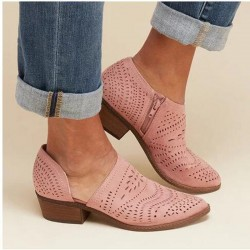 Hollow out - leather ankle...