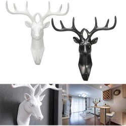 2017 nouveau Animal cerf Stags tte crochet mur cintre support tagres rsine maison dcoratif mont