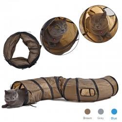 S - Shape opvouwbare tunnel voor katten en huisdieren