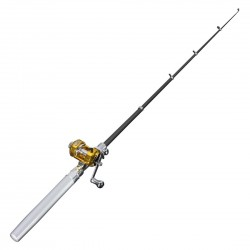 Pocket size telescopic fishing rod & fishing mill