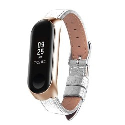 Kleurrijke Leather Black Rose Gold Case Smart Horloge band voor xiaomi mi Band 3 band Voor xiaomi mi