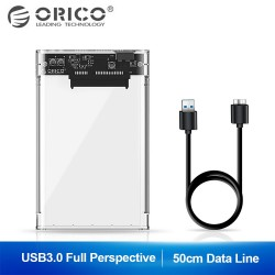 2.5 inch Transparent USB3.0 Hard Drive Enclosure